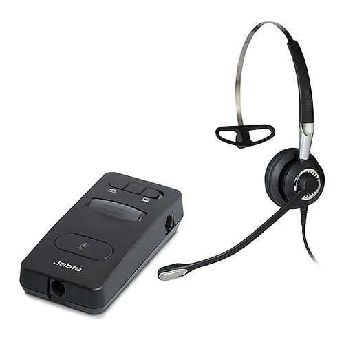 Jabra BIZ 2400 II NC Mono QD Headset w/ Link 860 Digital Amplifier