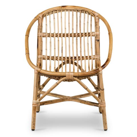 Poly and Bark Ale Rattan Lounge Chair
