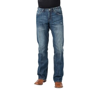 Stetson Western Jeans Mens Low Rise Bootcut Blue 11-004-1014-4075 BU