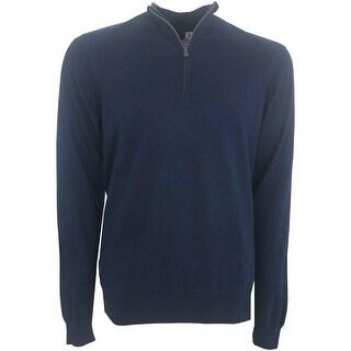 Greg Norman 1/4 Zip Luxury Blend Sweater