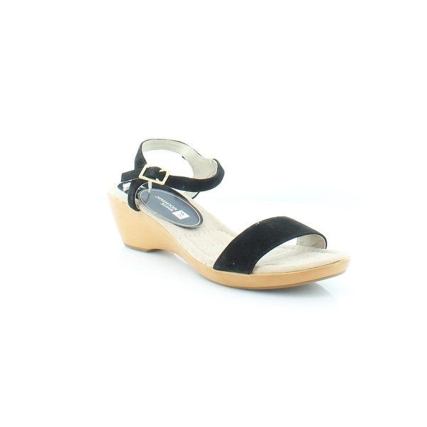 White Mountain Corky Women's Sandals & Flip Flops Black