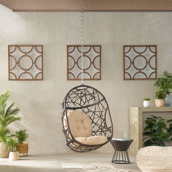 Simone Wicker Hanging Chair by Christopher Knight Home. Opens flyout.