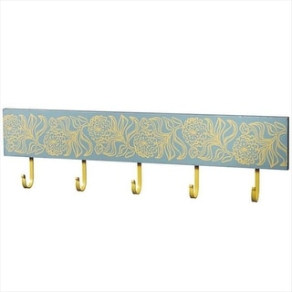 Pack of 2 Sky Blue and Sunshine Yellow Floral Decorative Wall Hook 30""