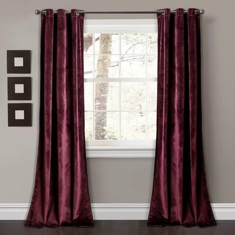 Porch & Den Lapeyrous Velvet Solid Room Darkening Window Curtain Panel Set