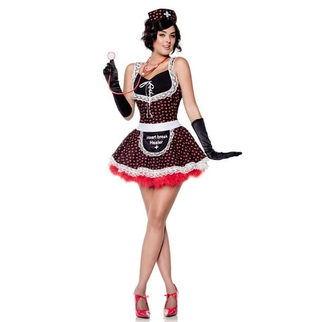 Seven til Midnight Heartbreak Healer/Maid to Love Adult Costume - Solid