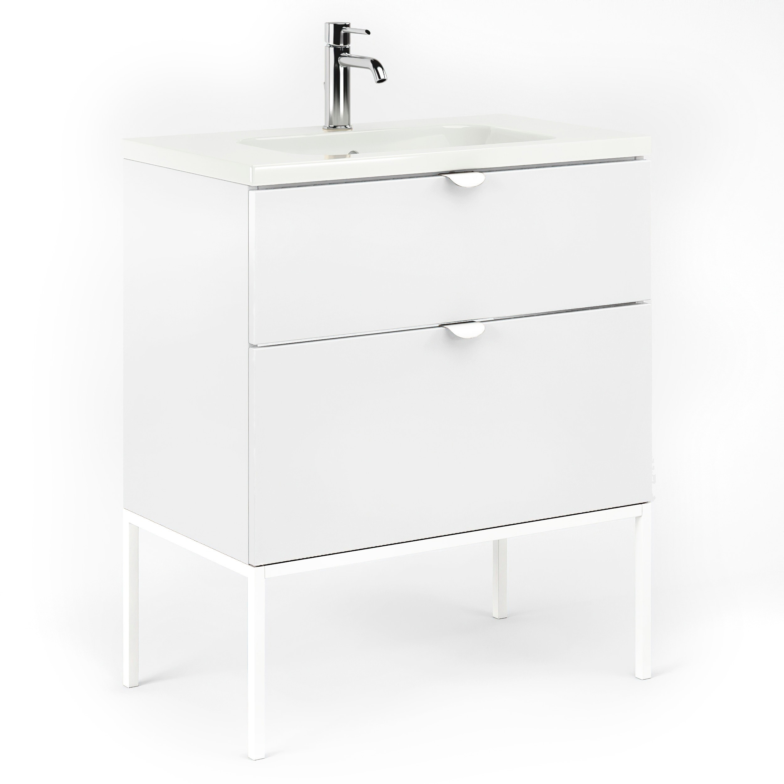 32 Bathroom Vanity Cabinet Ceramic Sink Set Aspen W32 X H35 X D18 In Rhd White Overstock 31519405