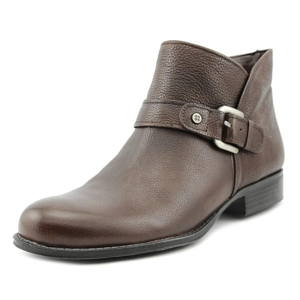 Naturalizer Jarrett Women Round Toe Leather Brown Ankle Boot