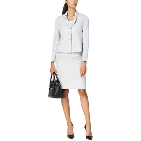 Le Suit Womens Skirt Suit Professional Office