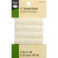 """Ivory - Ruched Elastic .5""""X1yd"""