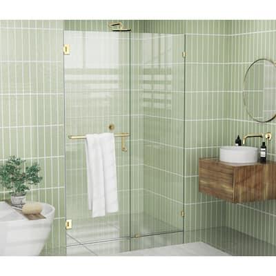 """Glass Warehouse 78"""" x 46.5"""" Frameless Towel Bar Shower Door - Wall Hinge"""