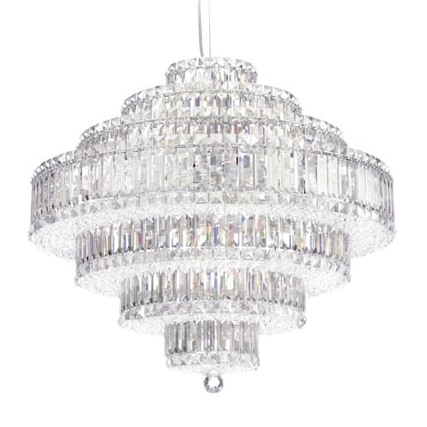 Plaza 31 Light Pendant Staless Steel Clear Spectra Crystal - One Size