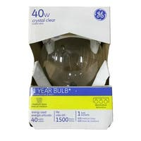 GE 12980 Decorative Globe Clear Light Bulb, 40 Watts, 120 Volt