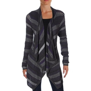 Design History Womens Cardigan Sweater Knit Open Front