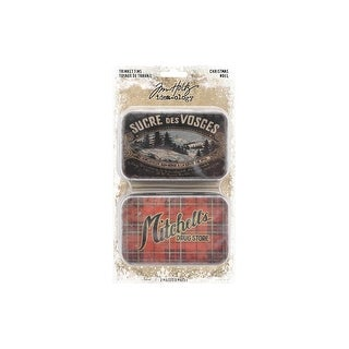 Th93761 Tim Holtz Idea Ology Christmas Trinket Tins