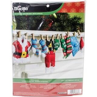 "Santa's Laundry Garland Felt Applique Kit-27""X5"""