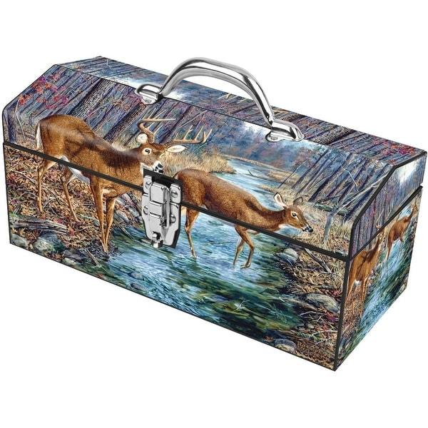 "Sainty International 24-125 The Wind Box Art Deco Tool Box, 16"""