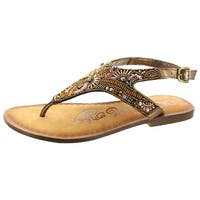 Naughty Monkey Adeley Women's Leather Beaded Sandal