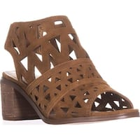Steve Madden Estee Perforated Slingback Sandals, Cognac