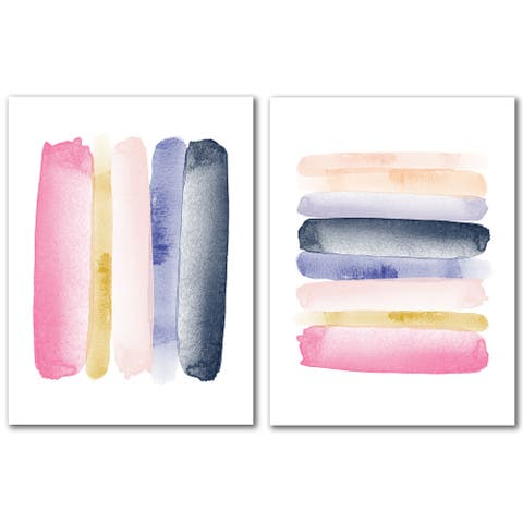Abstract by Amy Brinkman - 2 Piece Wrapped Canvas Art Set