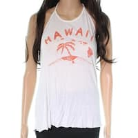 MITCHELL White Hawaii Graphic Print Women's Size Large L Halter Tee