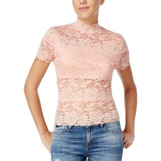 Guess Womens Blouse Lace Scalloped