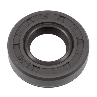 Oil Seal, TC 15mm x 30mm x 7mm, Nitrile Rubber Cover Double Lip - 15mmx30mmx7mm