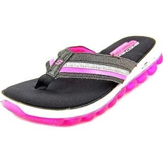 Skechers Skech Air Youth Open Toe Synthetic Black Flip Flop Sandal