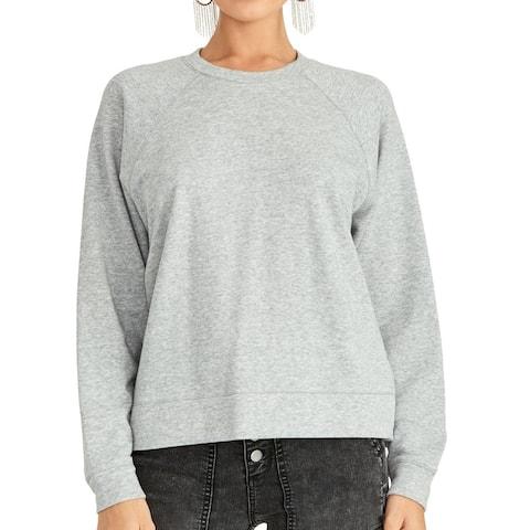 Rachel Rachel Roy Womens Sweatshirt Gray Medium M Crochet Eyelet Back