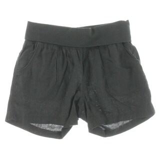 Calvin Klein Performance Womens Athletic Shorts Linen Fold-Over
