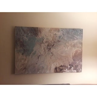 Strick & Bolton 'Aqua Marble' Premium Giclee Gallery Wrapped Canvas