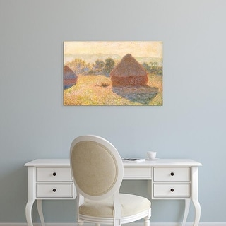 Easy Art Prints Claude Monet's 'Haystacks' Premium Canvas Art