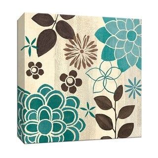 "PTM Images 9-152467  PTM Canvas Collection 12"" x 12"" - ""Abstract Garden Blue II"" Giclee Flowers Art Print on Canvas"