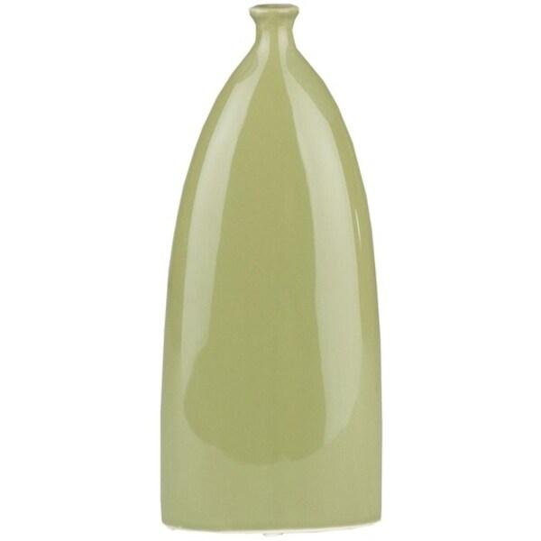 105 Caribbean Ties Glossy Lime Green Ceramic Tall Decorative Vase