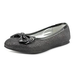 Nina Hazelle Youth Round Toe Synthetic Black Flats (Option: 13)