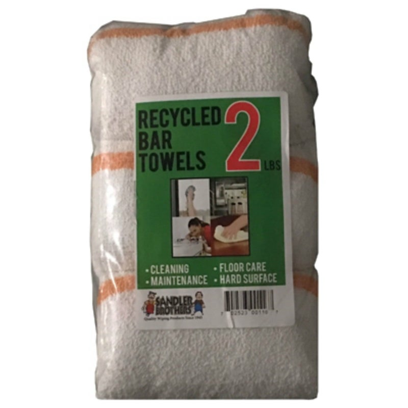 Sandler Brothers 216002 Recycled Bar Towels, 2 Lbs