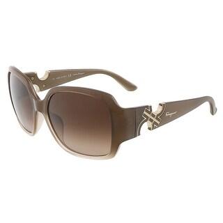 Salvatore Ferragamo SF642S 267 Beige Gradient Oversized Square sunglasses - 57-16-135