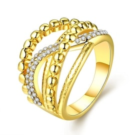 Gold Plated Two-Lined Wire Ring