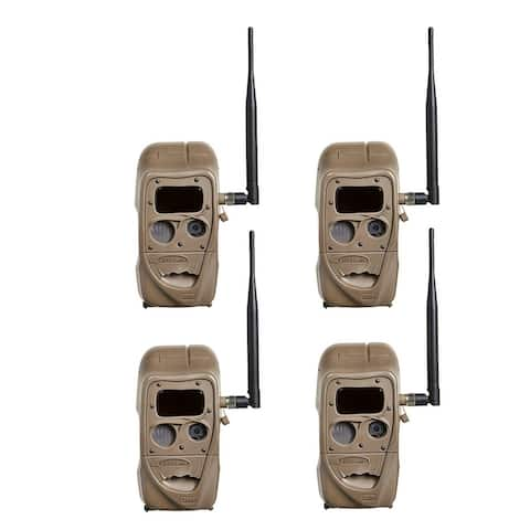 Cuddeback CuddeLink J Series Black Flash Trail Camera (4 Pack)