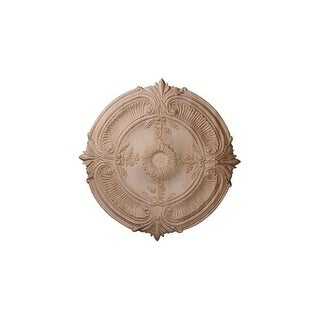 "Ekena Millwork CMW24ACCH 24"" Wide Carved Cherry Acanthus Leaf Ceiling Medallion"