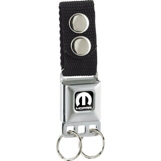 Mopar Logo Full Color Black White Keychain - One Size Fits most