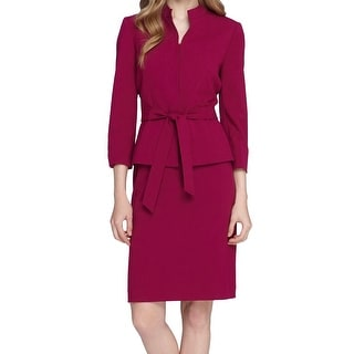 Tahari By ASL NEW Pink Rasberry Women's Size 18 Plus Skirt Suit Set