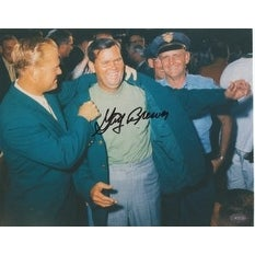 Gay Brewer signed Masters 8x10 Photo- Mounted Hologram