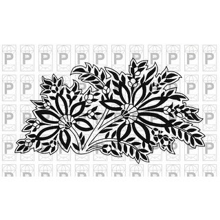 "Paper Parachute Cling Rubber Stamps 4""X7""-Floral & Leaves"