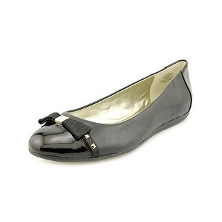 Anne Klein Jocelyne Round Toe Leather Flats