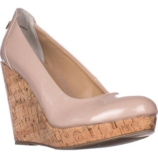 TS35 Miaa Platform Wedge Pumps, Pale Mauve