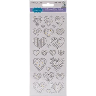 Multicraft Living In Color Glittered Art Therapy Stickers-Heart Medley