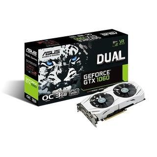 Asus Dual-Gtx1060-O3g Geforce 3Gb Dual-Fan Oc Edition Graphics Card