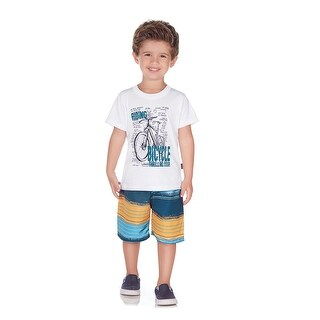 Pulla Bulla Toddler Boy 2-Piece Outfit Graphic Shirt and Shorts Set