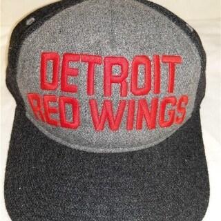 Detroit Red Wings Mens OSFA Flatbrim Snapback Mitchell & Ness Hat $24