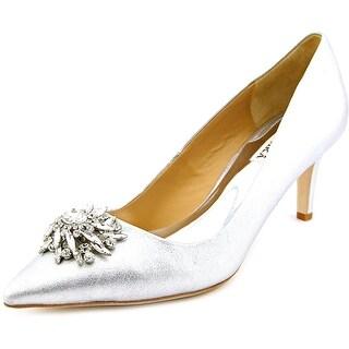 Badgley Mischka Gardenia Women Pointed Toe Leather Silver Heels